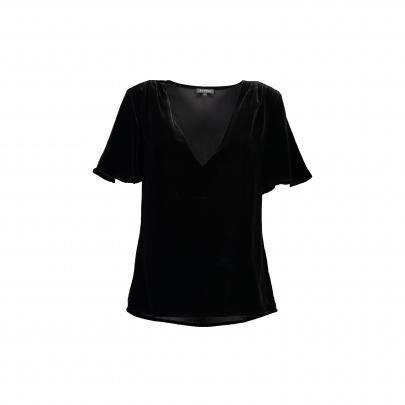 Storm luxe silk blend velvet top, $189