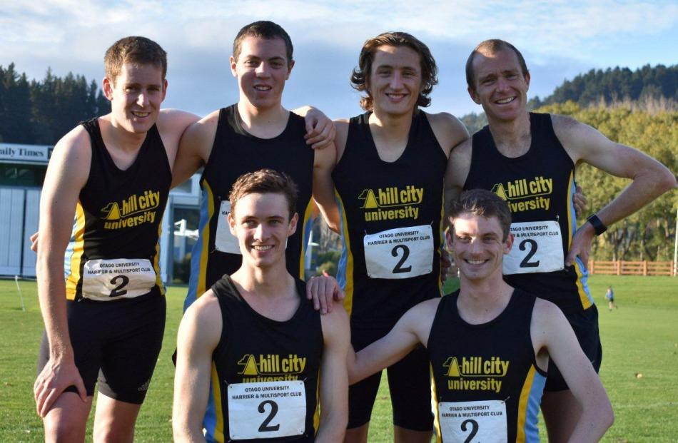 The Hill City-University No1 team of (clockwise from top left) Andrew Pohl, Drew Cairney, Jared...