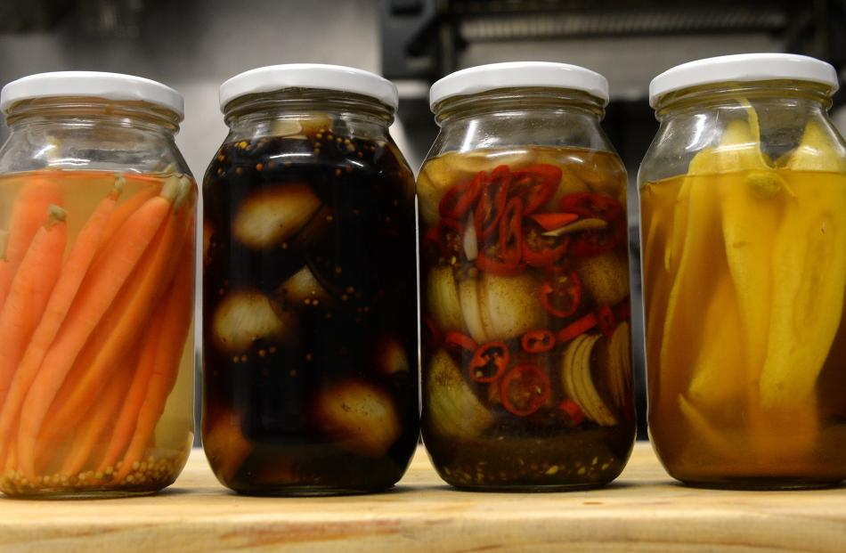 (from left) carrots, onions, chilli onions and sweet parsnips.