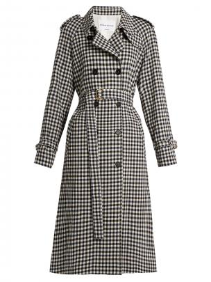 Sonia Rykiel Gingham Woool Trench $1525 from matchesfashion.com