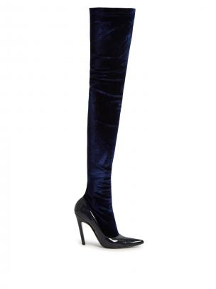 Balenciaga Boudoir over the knee boots, $1105
