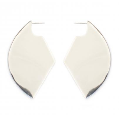 Flash Jewellery XL shield earrings in silver, $269