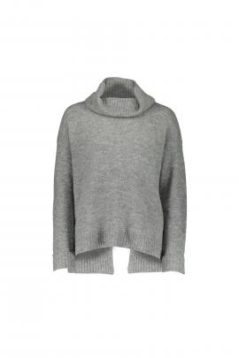 Casual: Cotton On Maggie luxe rollneck grey twist, $59.95