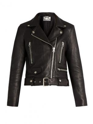 Acne Studios mock leather biker jacket $1605
