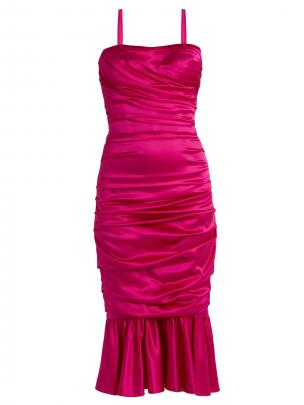Dolce & Gabanna ruched silk dress $3145