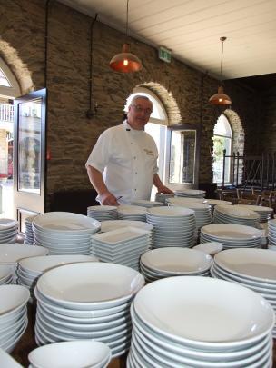 Michael Coughlin at Olivers Restaurant (2015). Photo: Lynda van Kempen.
