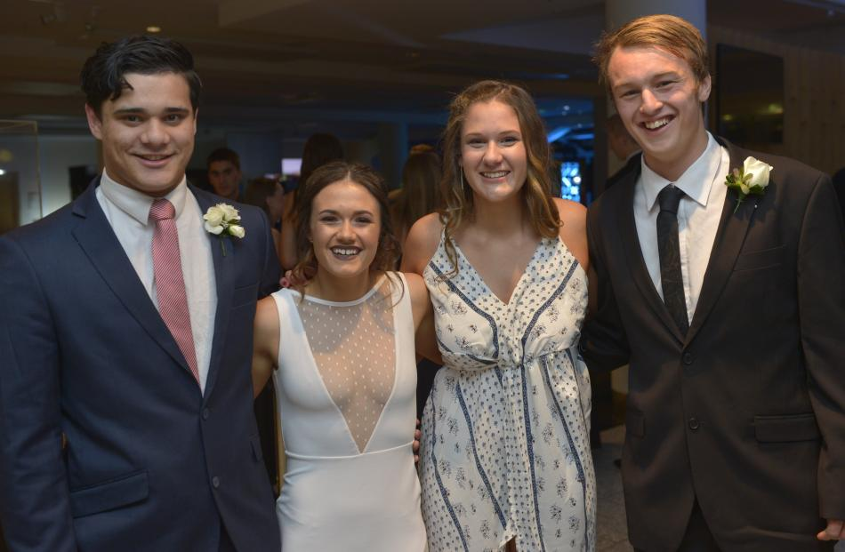 From left; Taulosena Nika (17), Shannon Inch (17), Megan Guest (17) and Oscar Black (17).