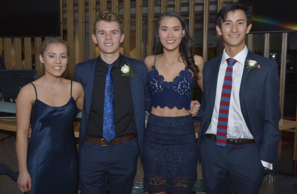 From left; Tanya Barnes (16), Hunter Kindley (17), Jamie McAuslan (17) and Max Chu