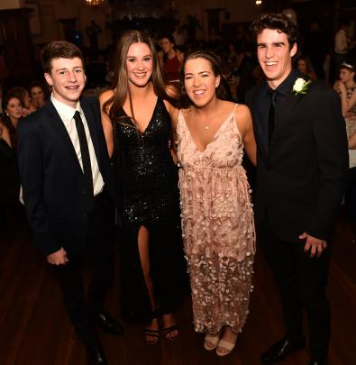 From left, Will Christophers (16) of Kavanagh College, Carina Donedan (16) of OGHS, Hannah Sims ...
