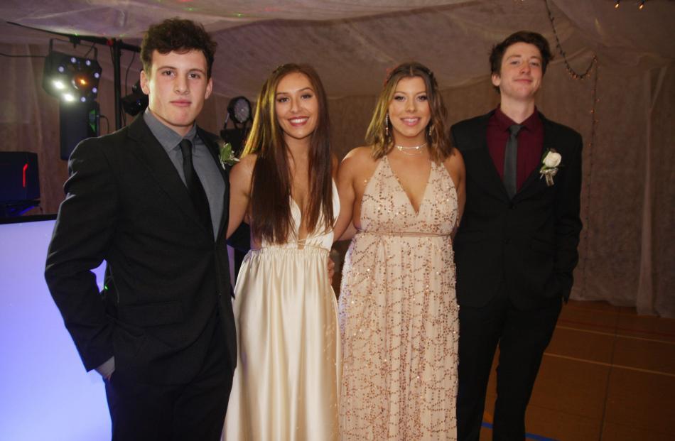 Bob Martin (17), Molly Greaves (17), Hayley Jenkinson (17) and Logan Blair (18)
