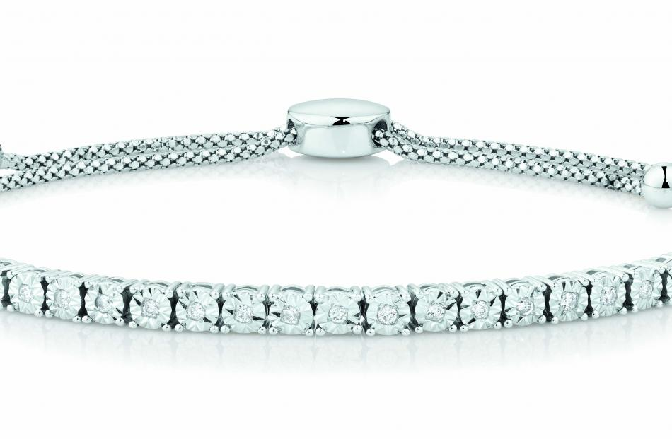 Michael Hill diamond and stirling silver bracelet $799