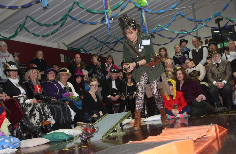 Dunedin's teapot racer Sofie Welvaert, aka S.Hambles, is this year's grand winner of the Splendid...