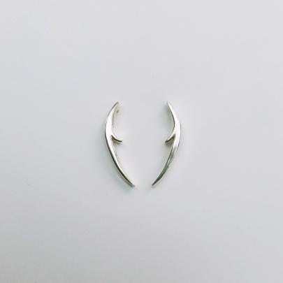 Long thorn earrings