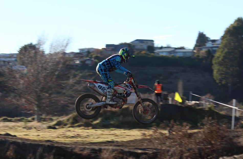 Competing in the Hasler Memorial Trophy Motocross race yesterday are Brendon Cornish, of Cromwell. Photos: Samuel White
