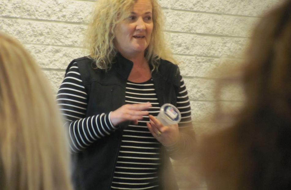Therese Gibbens, Canterbury-West Coast manager for The Drug Detection Agency, offered advice at an Ashburton workshop. Photos: Maureen Bishop