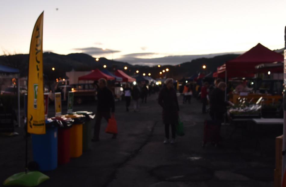 The Otago Farmers Market on a mild winter's morning.
