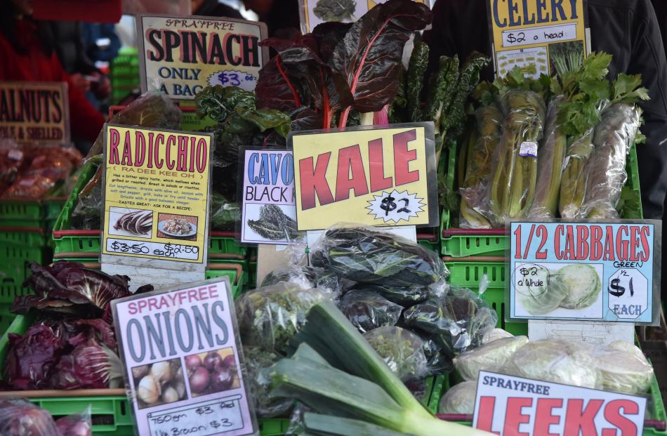 Some of the produce available at the  farmers market.