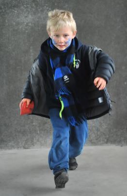Freddy McLeod (5), of Maori Hill School.