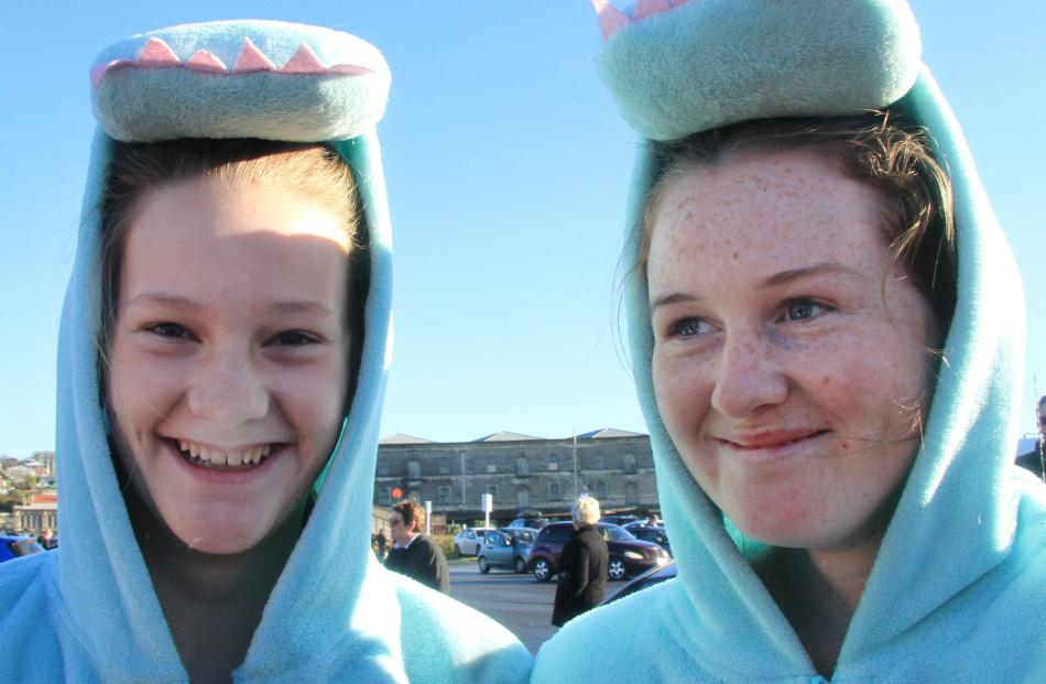 Phoebe Dundass and Charlotte Cunningham (both 14), both of Oamaru.