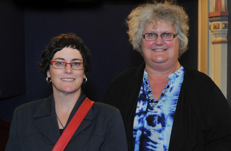 Justine Marshall, of Waitati, and Jo Silich, of Waikouaiti.