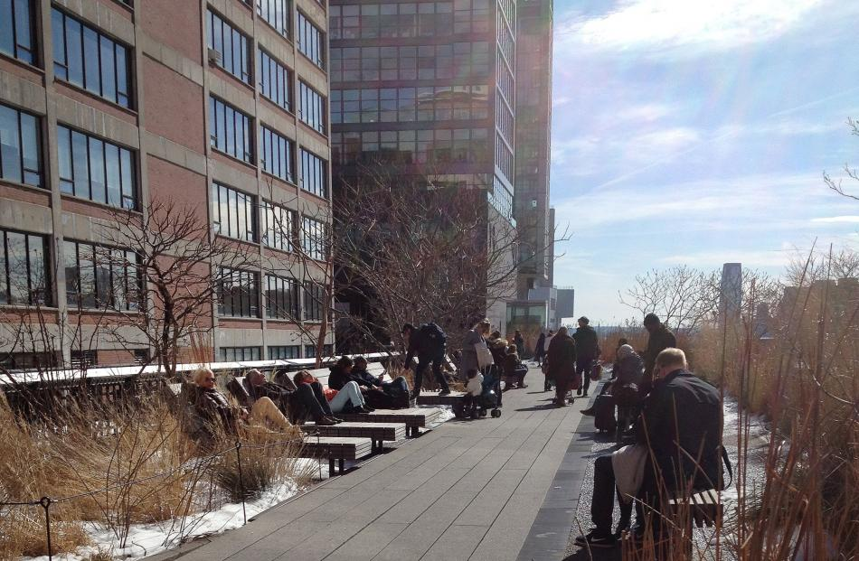 The High Line is a walking track along the disused railway of the former meat-packing district on...