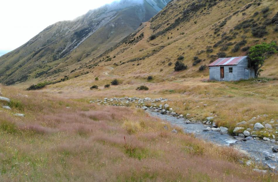 A tin hut south of the Ahuriri River. Photo: supplied.