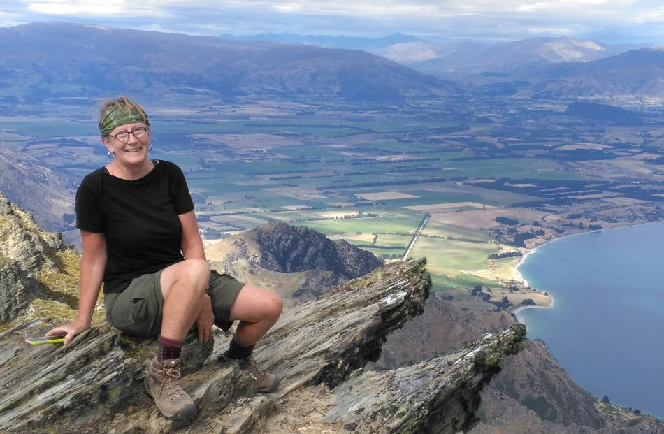 Keitha above Lake Hawea. Photo: supplied.