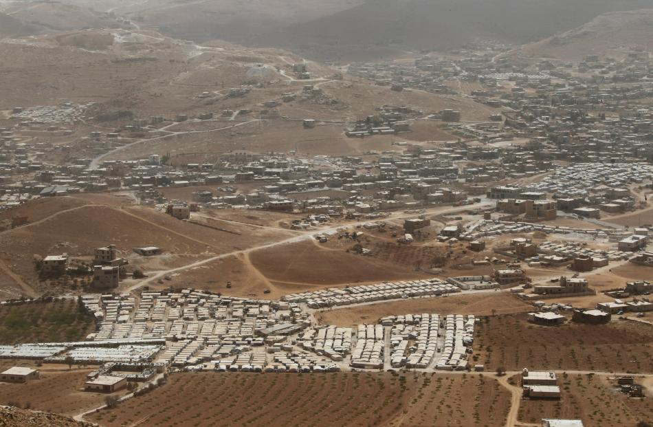 Syrian refugee camps dotted in and around the Lebanese town of Arsal, near the border with Syria, in this file photo from September 2016.