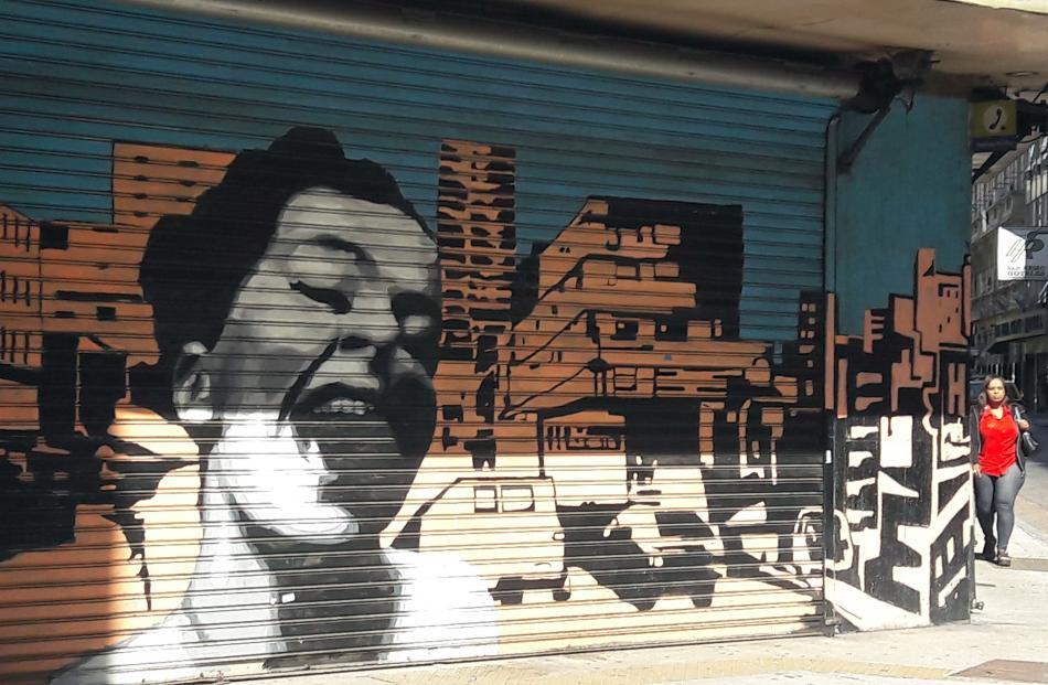 Street art a la Billie Holiday.