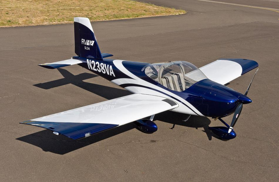 A completed example of the plane to be built by the Otago Polytechnic. Photo: Supplied