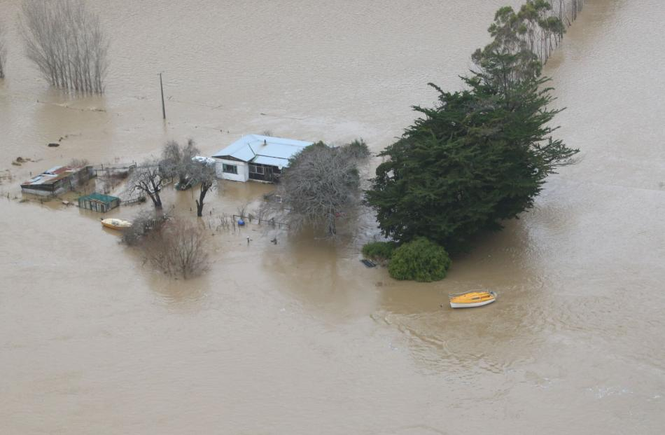 Flooding in Taieri. Photo: ORC