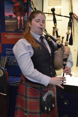 Bagpiper Amy.