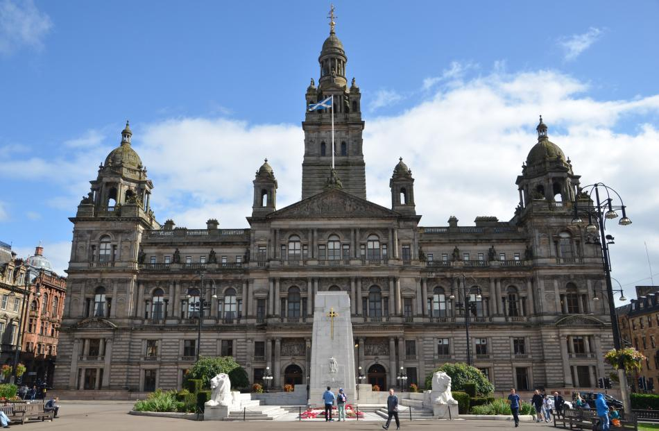 One of Glasgow's grand neoclassical buildings, the City Chambers. PHOTOS: SANDIP HOR