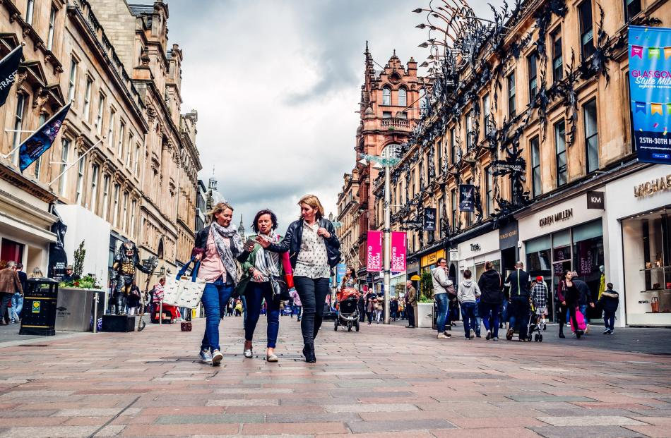 Buchanan St is a popular fashion and retail hub.