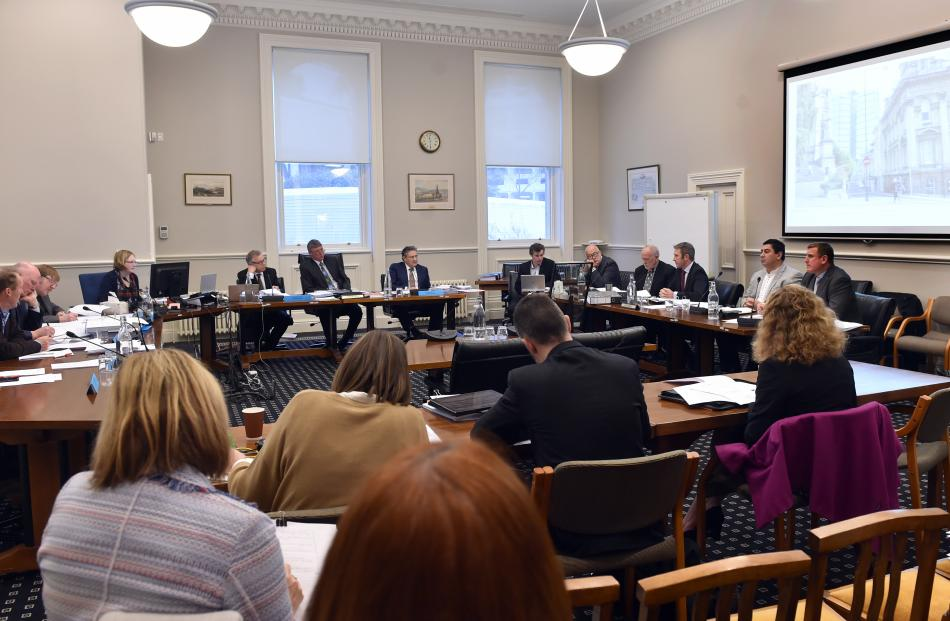 The Dunedin City Council consents hearing yesterday.
