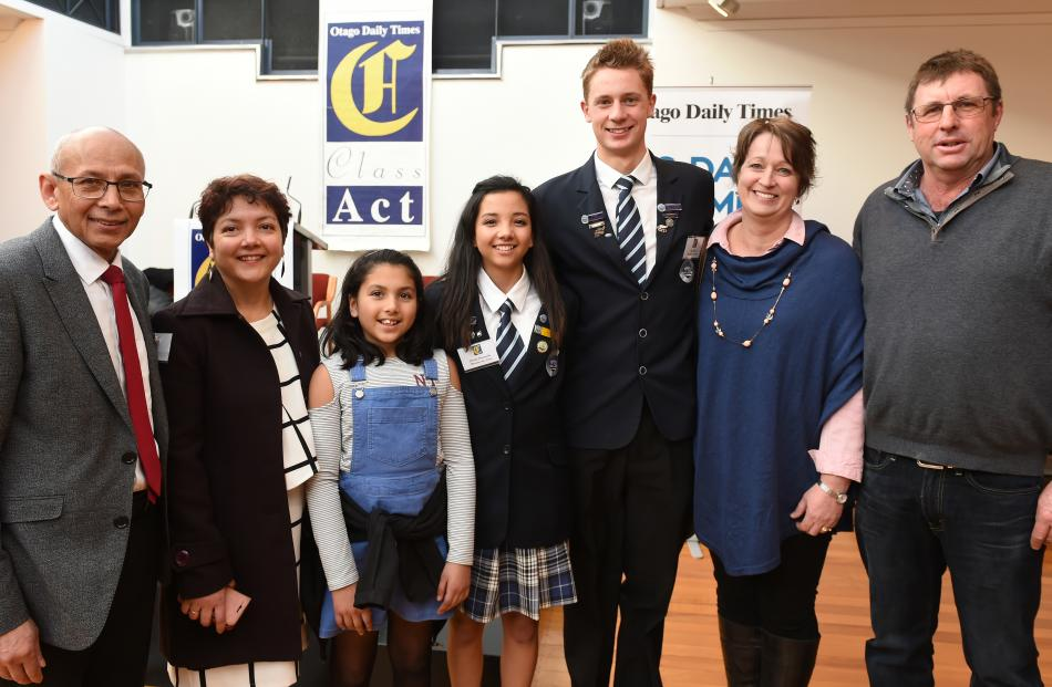 The Class Act awards are celebrated by (from left) Joe, Celine, Abby (10) and Candice Ferdinands...