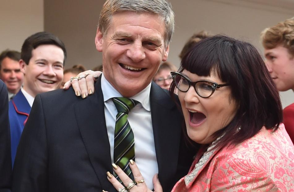 Cindy Cavanagh-Monaghan, of Blue Mountain College, with Prime Minister Bill Englishat the awards...