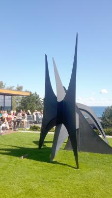 An outdoor sculpture park at Louisiana Modern Art Museum.
