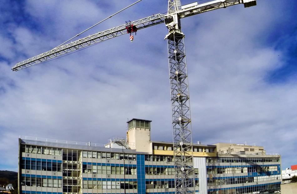 The 50m crane on the site of the University of Otago's new dental school was fully functional by...