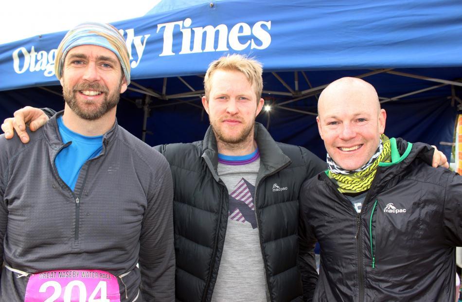 Simon Horan, Hamish Tyson and Scott McRodden, all of Dunedin.