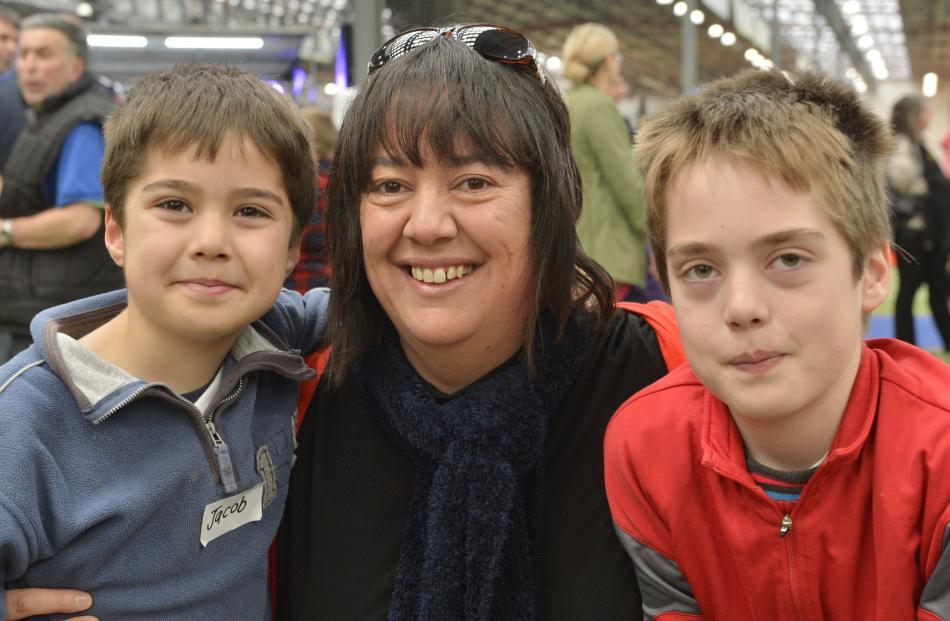 Jacob (6), Carmen and Sam (11) Batchelor, of Dunedin.
