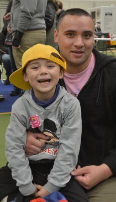 Samuel (5) and Kerry Vanderlaan, of Dunedin.