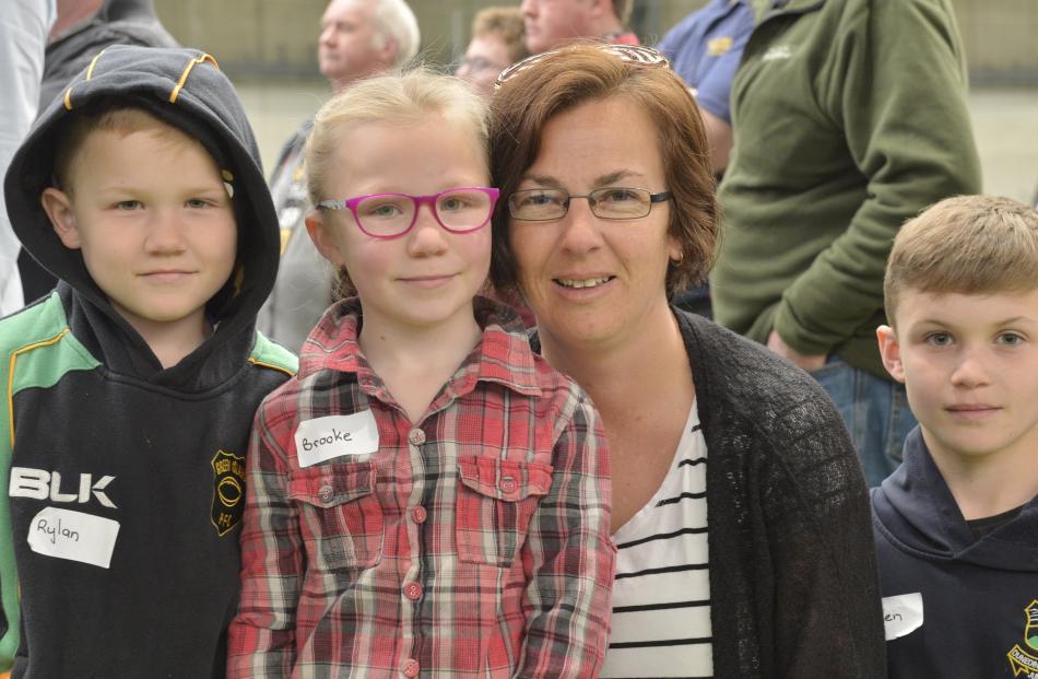 Rylan (8), Brooke (6), Amanda and Laken (10) Agnew, of Dunedin.