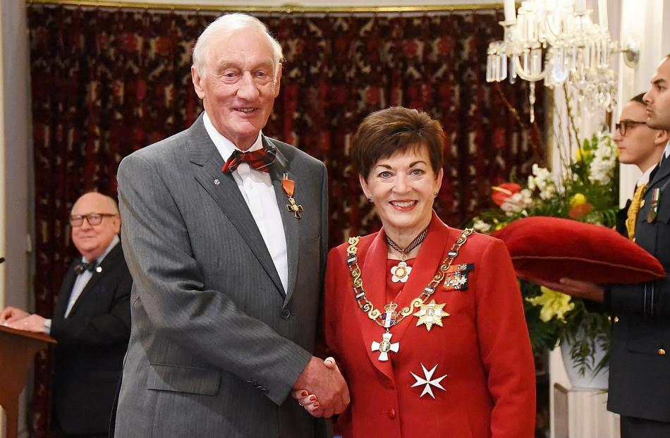 Bill Dunbar, of Cromwell, is awarded the ONZM for services to health and the community.
