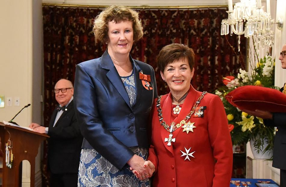 Jacqueline Barron is awarded the MNZM for services to sports governance and education.