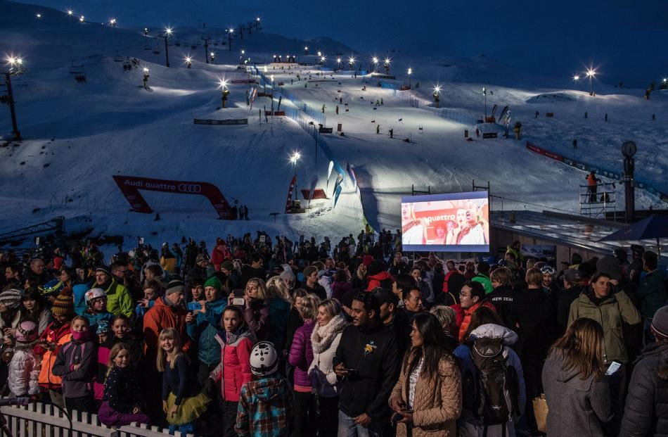 The Winter Games opening ceremony at Coronet Peak. Photo: Iain McGregor.