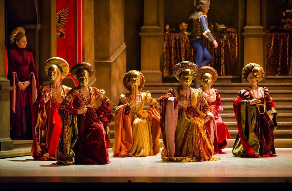 The opulent costumes in Romeo and Juliet were designed by Academy Award-winning costume and set designer James Acheson. Photos: Stephen A'Court