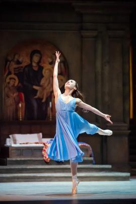 Madeleine Graham as Juliet in Romeo and Juliet.