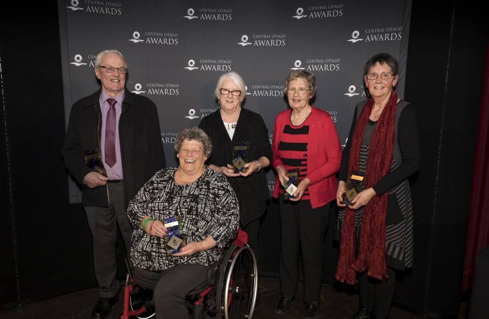 Community Service Award winners (from left:) Rod Peirce, of Roxburgh, Judy Elliott Hall, of...