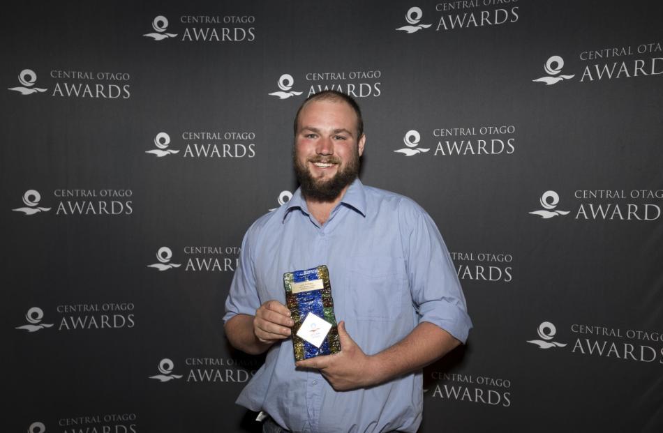 Earnscleugh orchard supervisor Luke Bottriell wins the Apprentice Award.